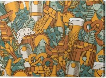 Canvas Bier Naadloze Patroon