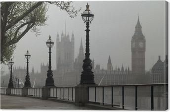 Canvas Big Ben en Houses of Parliament