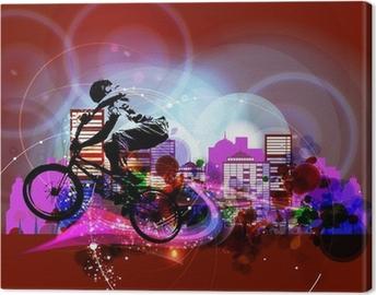 Canvas Biker. Vector