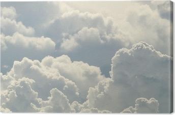 Canvas Blauwe lucht en mooie wolken