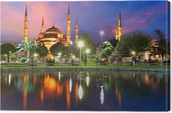 Canvas Blauwe Moskee in Istanbul, Turkije