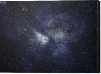 Canvas Blauwe ruimte achtergrond