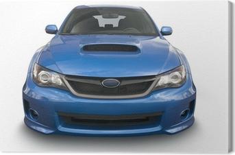 Canvas Blauwe sportwagen