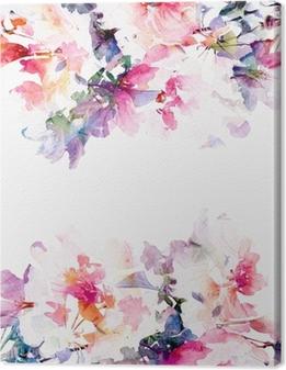 Canvas Bloemen aquarel achtergrond. Rozen.