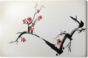 Canvas Bloesem schilderij