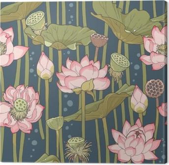 Canvas Blooming lotus naadloze