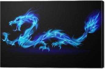 Canvas Blue fire Dragon