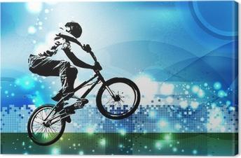 Canvas Bmx fietser