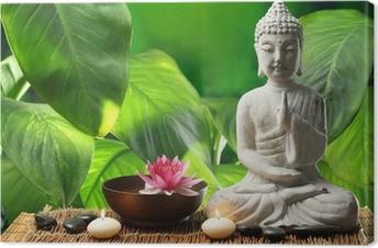 Canvas Boeddha in meditatie