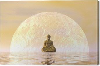 Canvas Boeddha meditatie - 3D render