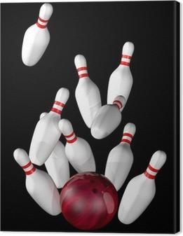 Canvas Bowling strike