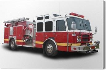 Canvas Brandweerwagen