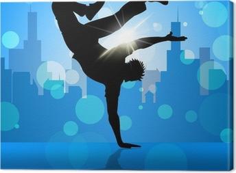 Canvas Break Dancer Geeft Straat Dansen En Breakdancing