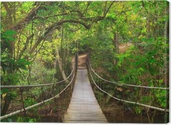Canvas Brug naar het oerwoud, Thailand