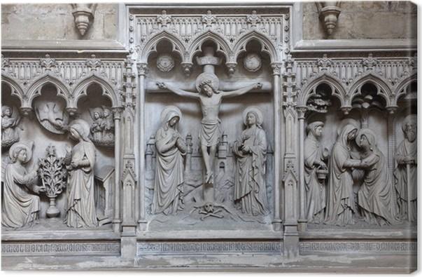 Canvas Brussel - Verlichting van de kruisiging van Saint Michael ...
