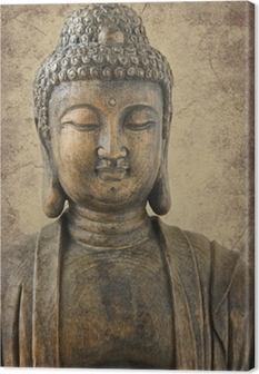 Canvas Buddha portrait