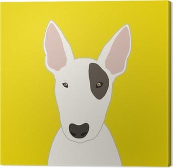 Canvas Bull terrier
