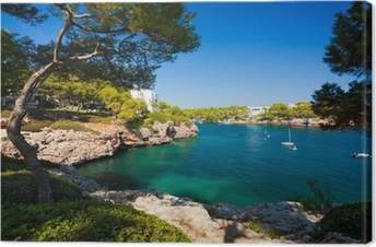 Canvas Cala d'Or baai, eiland Mallorca, Spanje