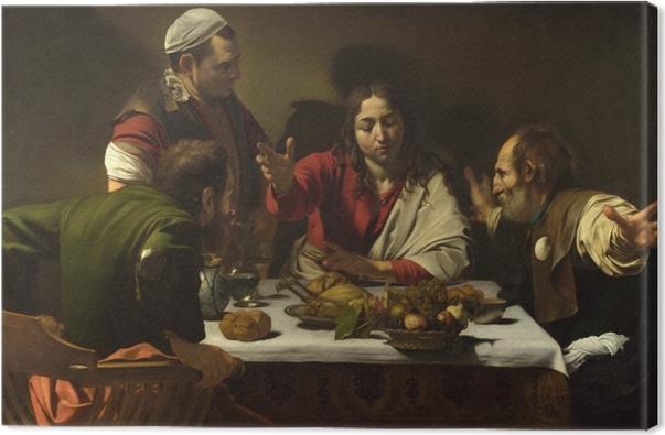Canvas Caravaggio - Avondmaal in Emmaüs - Reproductions