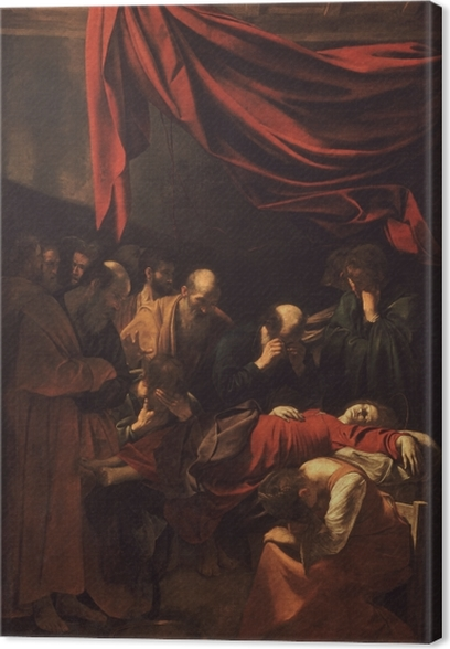 Canvas Caravaggio - Dood van de Maagd Maria - Reproductions