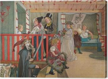 Canvas Carl Larsson - Měniny v kůlně