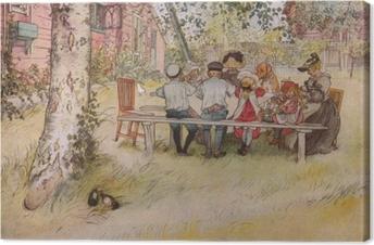 Canvas Carl Larsson - Snídaně pod vysokou břízou