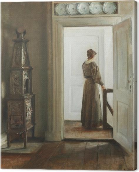 Canvas Carl Vilhelm Holsøe - Pokoj s ženou - Reproductions