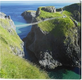 Canvas Carrick-a-Rede touwbrug, County Antrim, Noord-Ierland