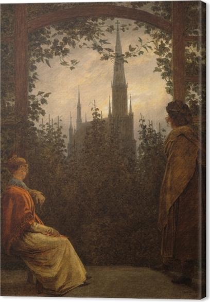 Canvas Caspar David Friedrich - Altánek v Greifswald - Reproductions
