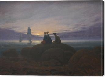 Canvas Caspar David Friedrich - Východ měsíce nad mořem II