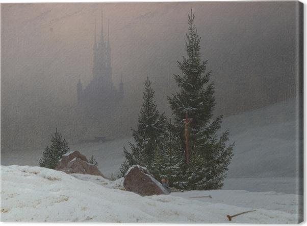 Canvas Caspar David Friedrich - Zimní krajina II - Reproductions