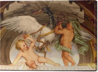 Canvas Cherubijnen spelen met een gans Painting - Vatican Museum