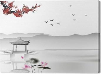 Canvas Chinees schilderij