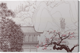 Canvas Chinese landschap