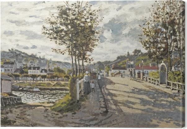 Canvas Claude Monet - De brug van Bougival - Reproducties