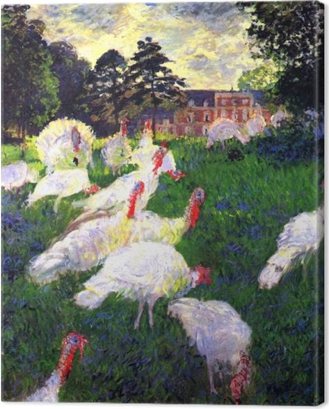 Canvas Claude Monet - De kalkoenen bij Chateau de Rottembourg - Reproducties