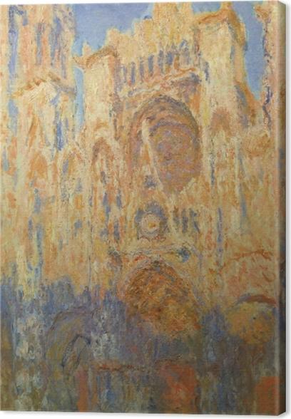 Canvas Claude Monet - De kathedraal van Rouen bij zon - Reproducties