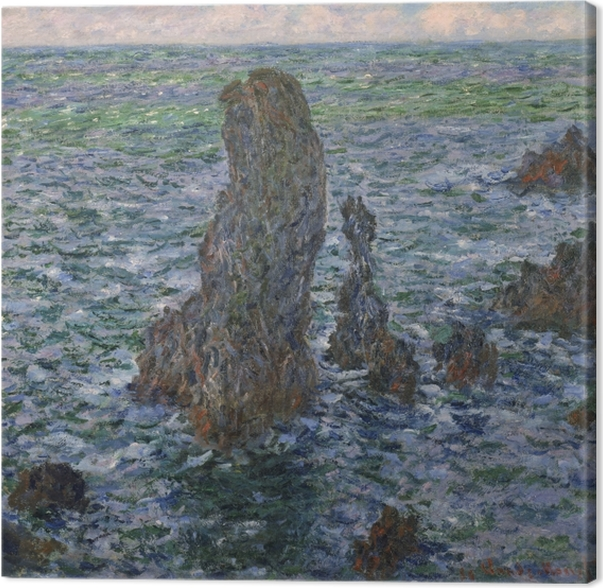 Canvas Claude Monet - De rotsen bij Belle Ile - Reproducties