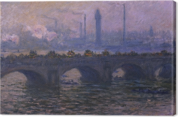 Canvas Claude Monet - De Waterloo-brug - Reproducties