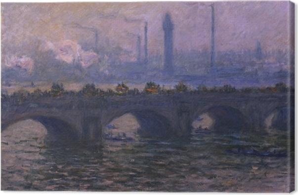 Canvas Claude Monet - De Waterloo-brug - Reproducties