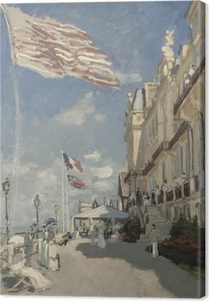 Canvas Claude Monet - Hôtel des Roches Noires. Trouville - Reproducties