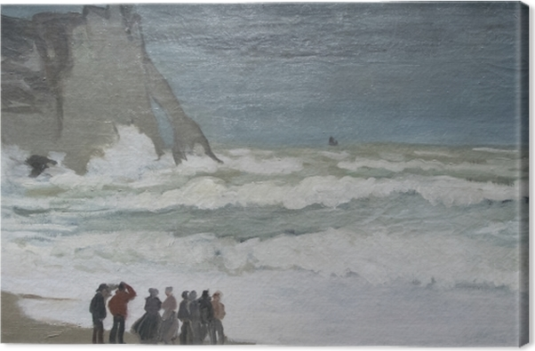 Canvas Claude Monet - Ruige zee bij Etretat - Reproducties
