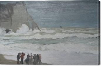 Canvas Claude Monet - Ruige zee bij Etretat