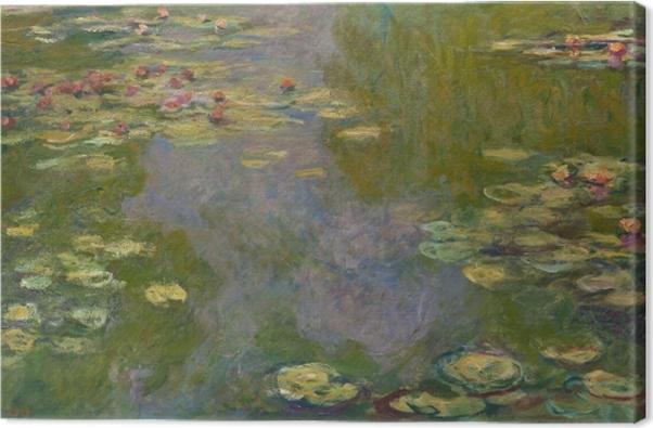 Canvas Claude Monet - Waterlelievijver - Reproducties