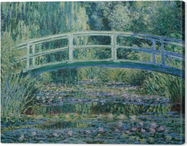 Canvas Claude Monet - Witte waterlelies - Reproducties