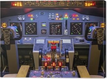 Canvas Cockpit van een zelfgemaakte Flight Simulator - Boeing 737-800