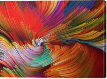 Canvas Color Vortex Composition
