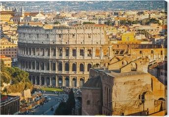 Canvas Colosseum bij zonsondergang