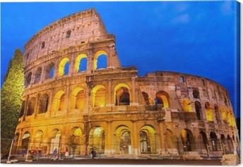 Canvas Colosseum schemering, Rome, Italië