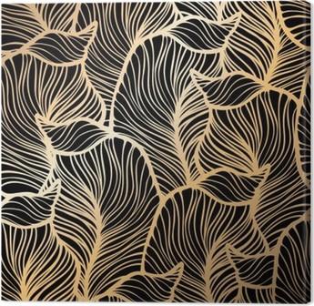 Canvas Damast naadloze bloemmotief. Royal wallpaper